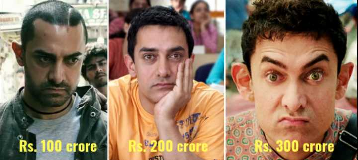 "😍 ""3 Idiots"" के 10 साल - Rs . 100 crore RS ! 200 crore RO e Rs . 300 crore - ShareChat"