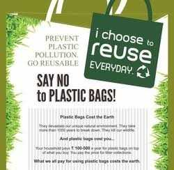 🚫 अंतर्राष्ट्रीय प्लास्टिक बैग मुक्त दिन - PREVENT PLASTIC POLLUTION i choose to reuse GO REUSABLE EVERYDAY SAY NO to PLASTIC BAGS ! Plastic Bags Cost the Earth They u l . They 1000reThe And plastic bage cost you Your 100 - 500 r plosti of what you buy you pay the price for What we all pay for using plastic bags costs the earth - ShareChat