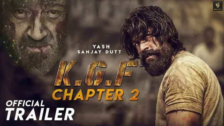 आज से KGF - MOVIECORNER YASH SANJAY DUTT OFFICIAL CHAPTER 2 TRAILER - ShareChat
