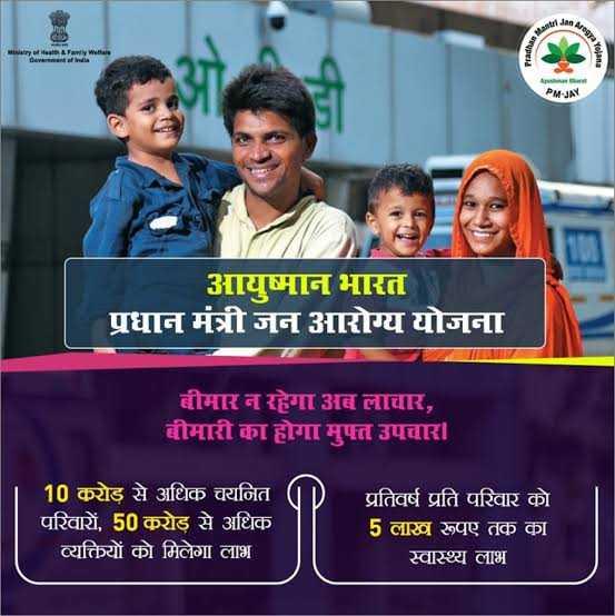 🌾आयुष्मान भारत दिवस - Ministry of Health & Family Wear PMN आयुष्मान भारत ' प्रधान मंत्री जन आरोग्य योजना बीमार न रहेगा अब लाचार , बीमारी का होगा मुफ्त उपचार । 10 करोड़ से अधिक चयनित परिवारों , 50 करोड़ से अधिक व्यक्तियों को मिलेगा लाभ प्रतिवर्ष प्रति परिवार को 5 लाख रूपए तक का स्वास्थ्य लाभ - ShareChat
