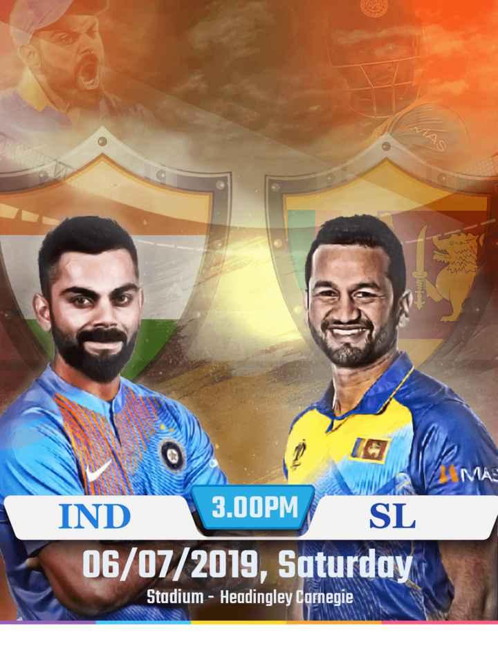 🏆 इंडिया 🇮🇳 vs श्रीलंका 🇱🇰 - WW . 2 ETER MAE 3 . 00PM IND SL 06 / 07 / 2019 , Saturday Stadium - Headingley Carnegie - ShareChat
