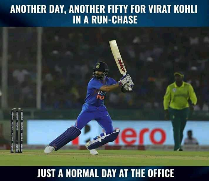 🏏 इंडिया vs साउथ अफ्रीका 2nd T20 - ANOTHER DAY , ANOTHER FIFTY FOR VIRAT KOHLI IN A RUN - CHASE RARE pavim Rauma pam pam paumaum mama rau zero Pem JUST A NORMAL DAY AT THE OFFICE - ShareChat