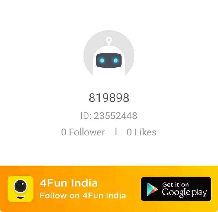 💐इतर शुभेच्छा - 819898 ID : 23552448 0 Follower I 0 Likes 4Fun India Follow on 4 Fun India Get it on Google play - ShareChat