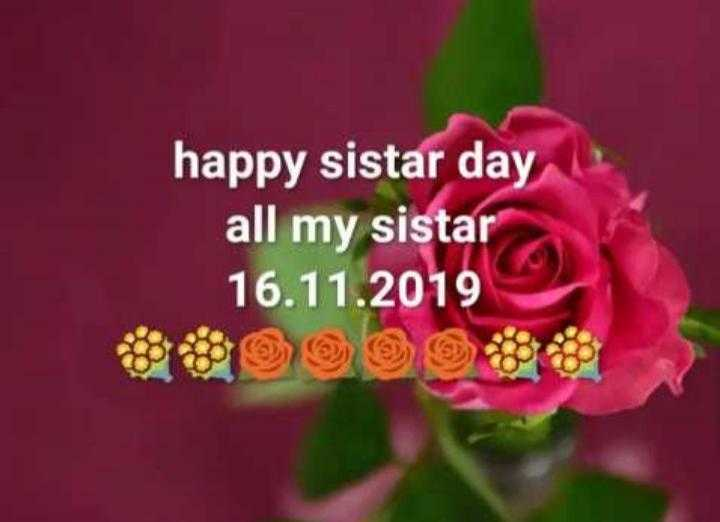 💐इतर शुभेच्छा - happy sistar day all my sistar 16 . 11 . 2019 - ShareChat