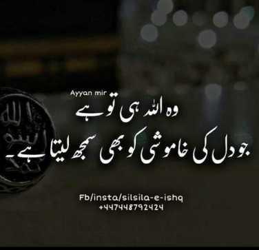 🤲 इबादत - Ayyan mir وہ اللہ ہی تو ہے تو دل کی خاموشی کو بھی سمجھ لیتا ہے ۔ Fb / insta / silsila - e - ishg + 447448792424 - ShareChat