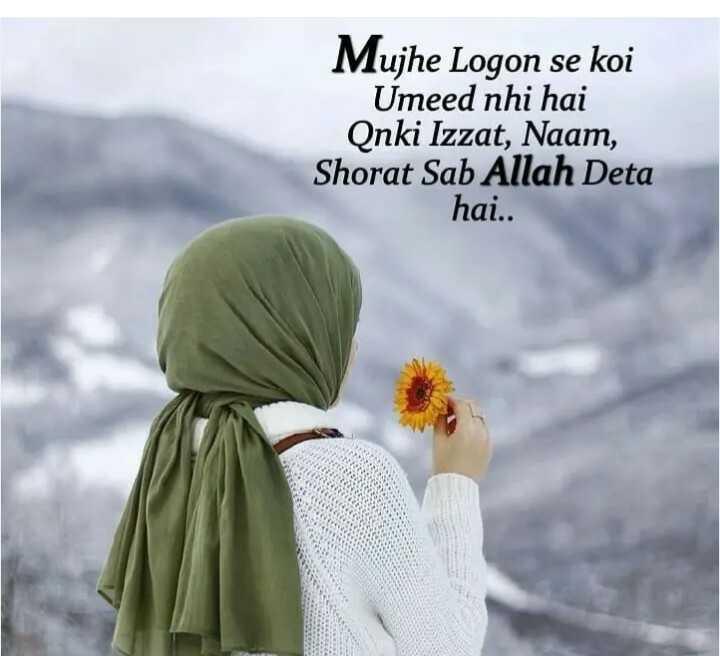 🤲 इबादत - Mujhe Logon se koi Umeed nhi hai Qnki Izzat , Naam , Shorat Sab Allah Deta hai . . - ShareChat
