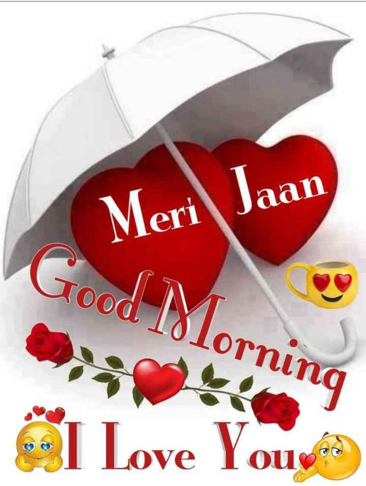 💏 इश्क़-मोहब्बत - Meri Jaan Good l8lorning I Love You - ShareChat