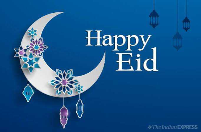 ईद-उल-फितर - Happy , Eid The Indian EXPRESS - ShareChat