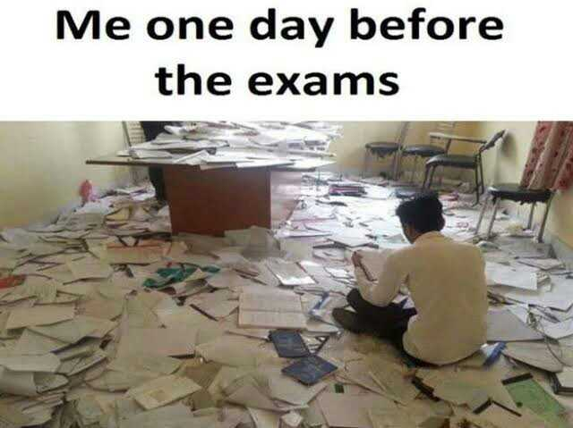 📚 एग्जाम जोक्स😂 - Me one day before the exams - ShareChat