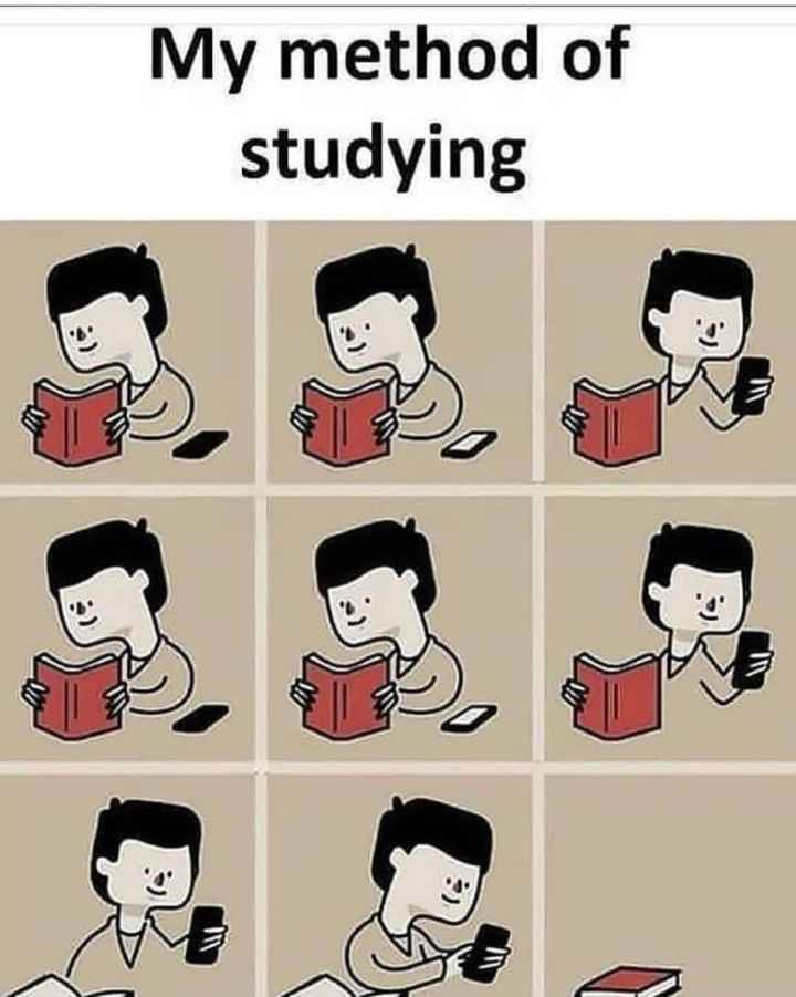 📚 एग्जाम जोक्स😂 - My method of studying - ShareChat