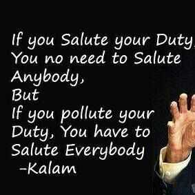 📖एग्जाम मोटिवेशन - If you Salute your Duty You no need to Salute Anybody , But If you pollute your Duty , You have to Salute Everybody - Kalam - ShareChat