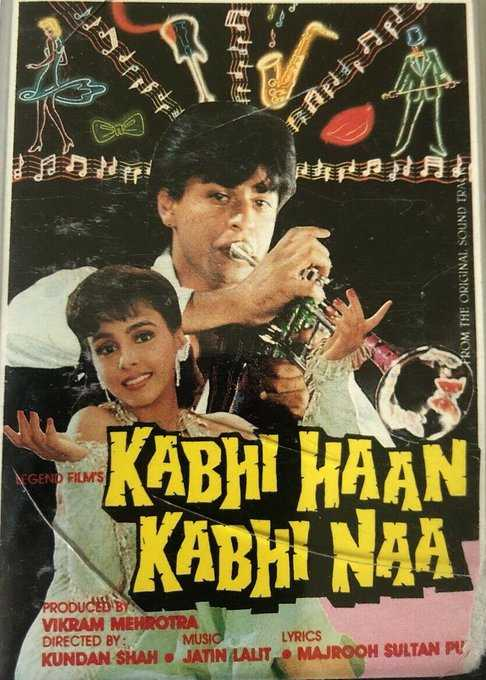 💞कभी हाँ कभी ना के 26 साल - Sne FROM THE ORIGINAL SOUND TRAIN KABHI HAAN KABHI NAA PRODUCED BY VIKRAM MEHROTRA DIRECTED BY : MUSIC LYRICS KUNDAN SHAH . JATIN LALIT . MAJROOH SULTAN PU - ShareChat