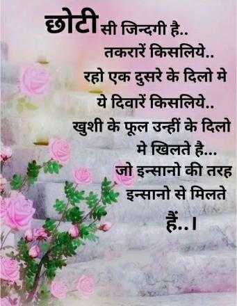 📖 कविता - छोटीसी जिन्दगी है . . तकरारें किसलिये . . रहो एक दुसरे के दिलो मे ये दिवारें किसलिये . . खुशी के फूल उन्हीं के दिलो मे खिलते है . . . जो इन्सानो की तरह इन्सानो से मिलते - ShareChat