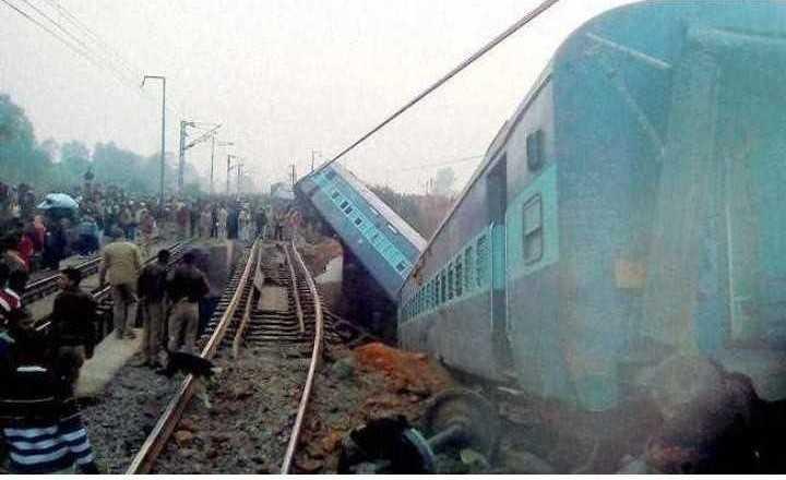 🗞कानपूर-पूर्वा एक्स्प्रेस रेल्वे दुर्घटना - NE - ShareChat