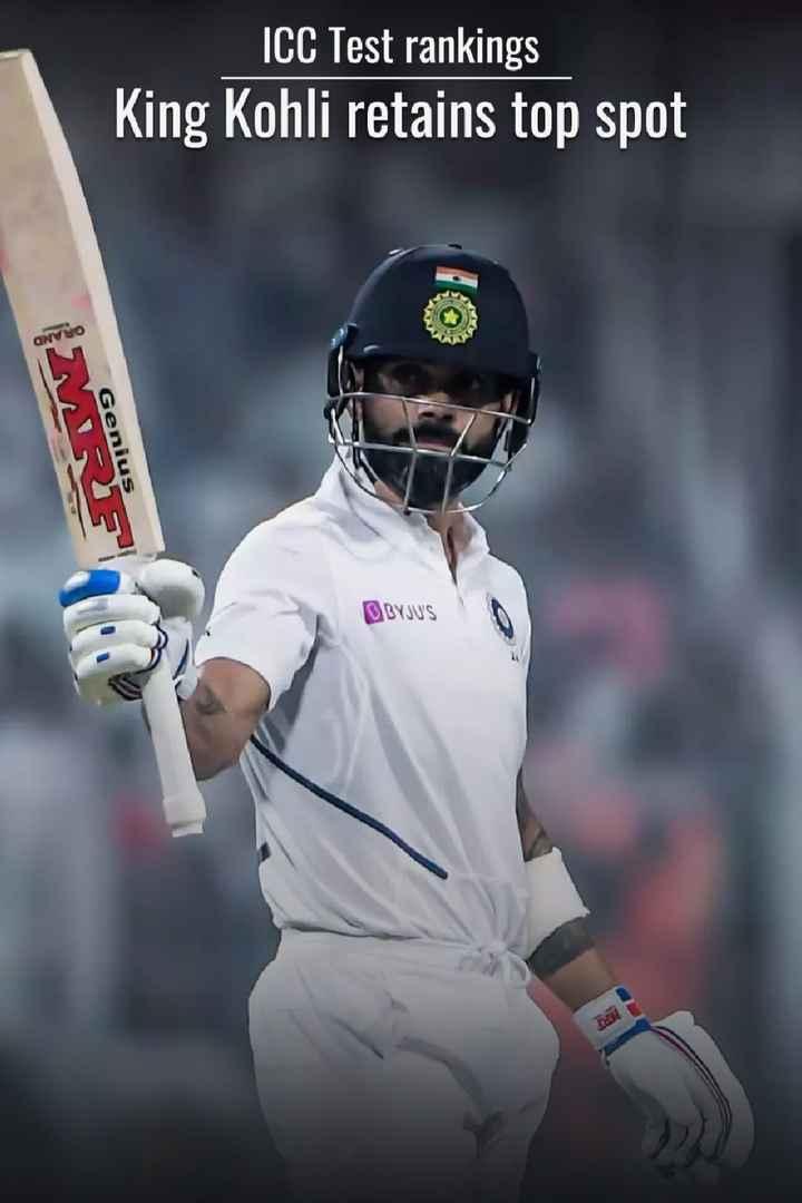 🏏किंग कोहली - ICC Test rankings King Kohli retains top spot Genius BYJU ' S - ShareChat