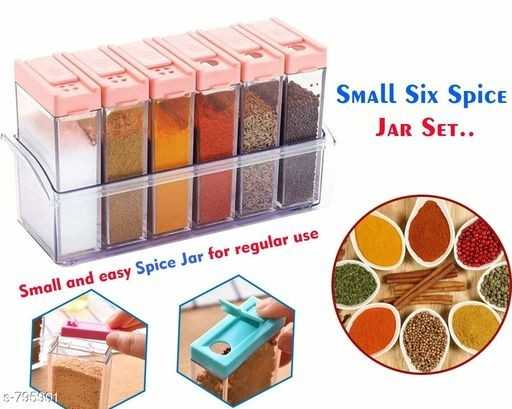 किचन टिप्स - Small Six Spice JAR SET . . Small and easy Spice Jar for regular use S - 795991 - ShareChat
