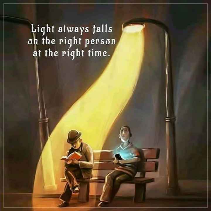 🚜कृषि दर्शन - Light always falls on the right person at the right time . - ShareChat