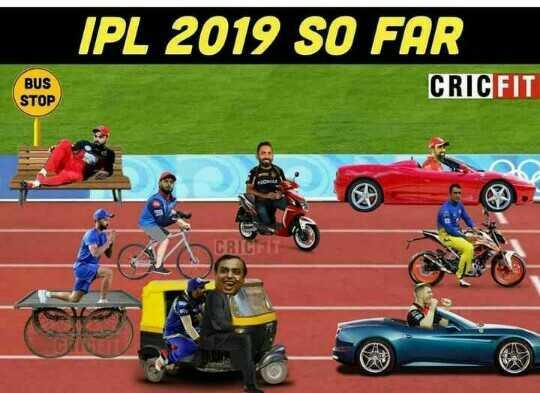 🏏 कोलकाता की धमाकेदार जीत - IPL 2019 SO FAR CRICFIT BUS STOP - ShareChat