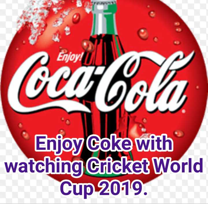 क्रिकेट के साथ कोक - Enjoy ! Coca - Cola Enjoy Coke with watching Cricket World Cup 2019 . - ShareChat