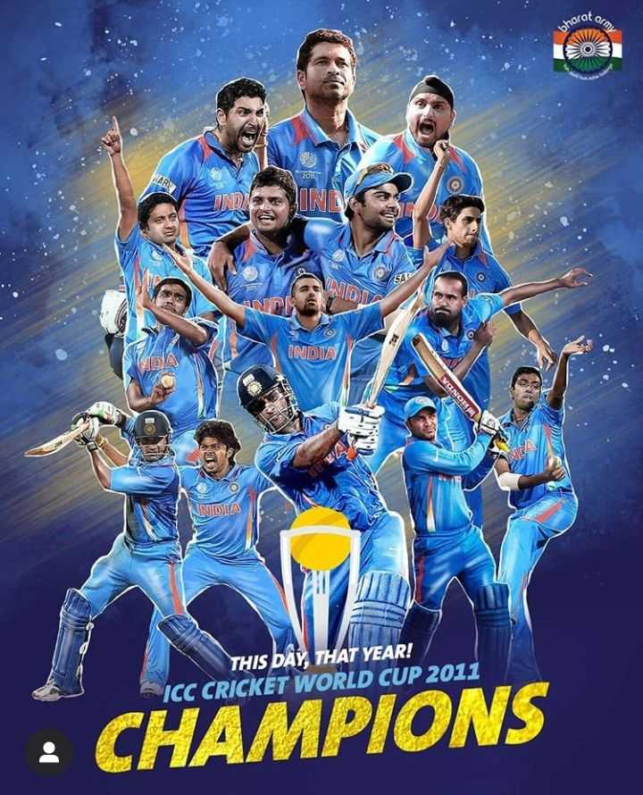 🧐 क्रिकेट ज्ञान - NOV NO INDIA INDIA THIS DAY , THAT YEAR ! ICC CRICKET WORLD CUP 2011 CHAMPIONS - ShareChat