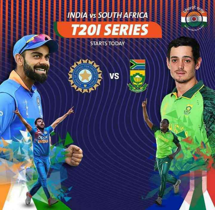 🏏क्रिकेट Live - bharo INDIA VS SOUTH AFRICA T20I SERIES STARTS TODAY VS oppc INDIA - ShareChat