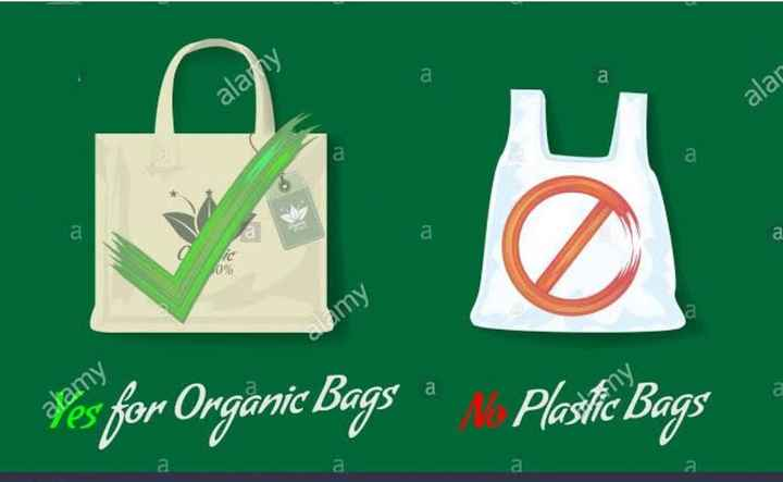 🛍क्लॉथ बैग डे - alar alany a Lamy Fes for Organic Bags Plastic Bags - ShareChat