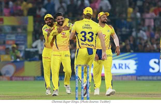 🎯 खेल समाचार - India Cements WYSON DRUS ARK Chennai Super Kings . ( Photo Source : Twitter ) - ShareChat
