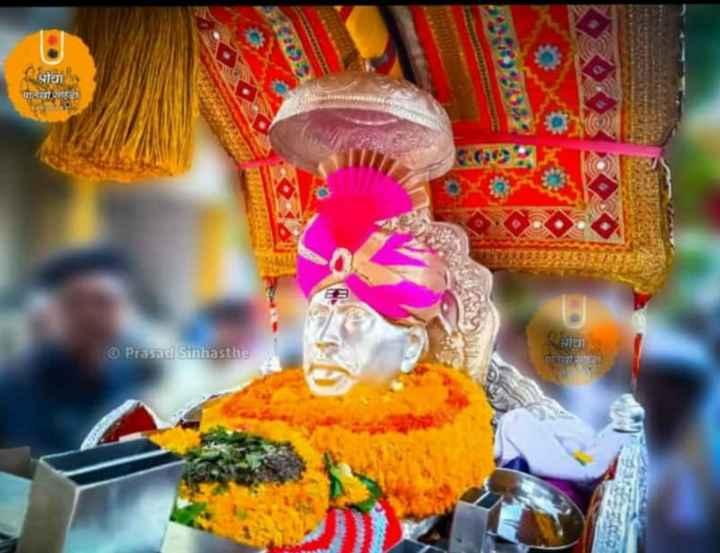 👣गजानन महाराज - । यीचा पाने जा | Prasad Sinhasthe - ShareChat