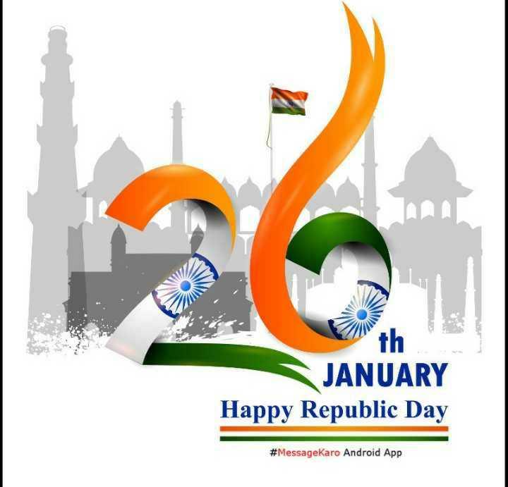🙏गणतंत्र दिवस की शुभकामनाएं - th JANUARY Happy Republic Day # MessageKaro Android App - ShareChat