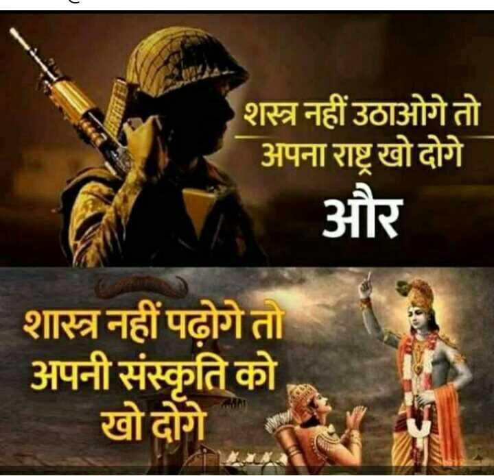🙏 गीता जयंती - शस्त्र नहीं उठाओगे तो अपना राष्ट्र खो दोगे और शास्त्र नहीं पढ़ोगेत अपनी संस्कृति को खो दोगे - ShareChat