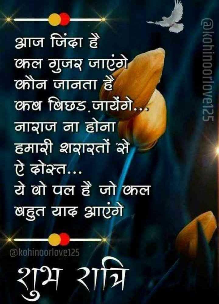 🌙 गुड नाईट वीडियो - @ kohinoorlove125 आज जिंदा है कल गुजर जाएंगे कौन जानता है कष बिछड जायेंगे . . . नाराज ना होना हमारी शरारतों से ऐ दोस्त . . . ये वो पल है जो कल बहुत याद आएंगे @ kohinoorlove125 হায় বালি । - ShareChat