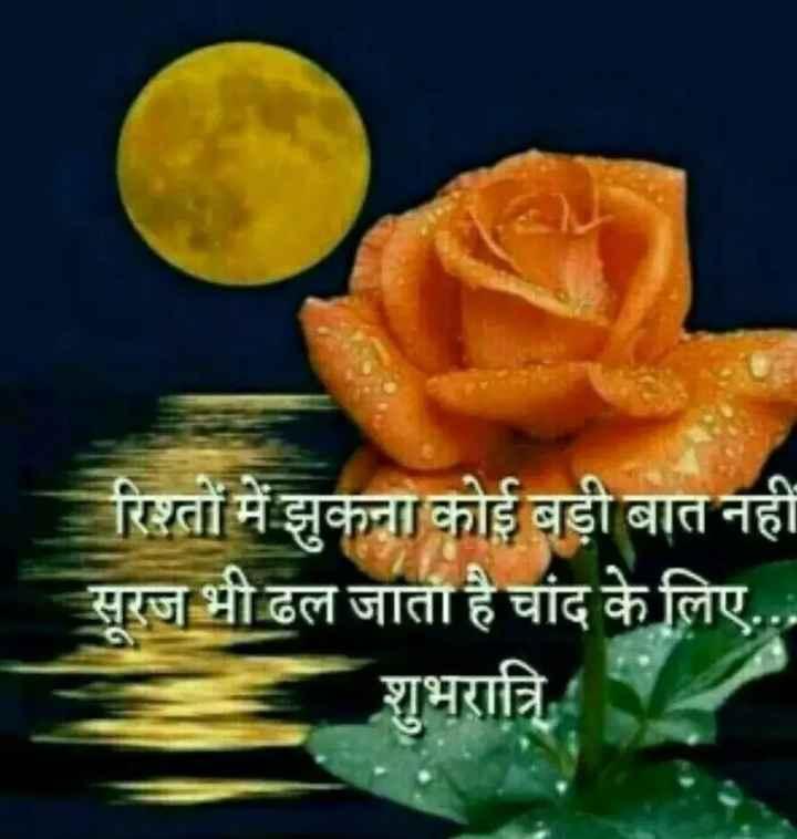 🌙 गुड नाईट - रिश्तों में झुकना कोई बड़ी बात नहीं सूरज भी ढल जाता है चांद के लिए . . . शुभरात्रि - ShareChat