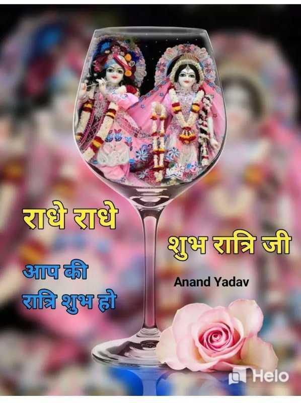 🌙 गुड नाईट - राधे राधे शुभ रात्रि जी आप की रात्रि शुभ हो Anand Yadav - ShareChat