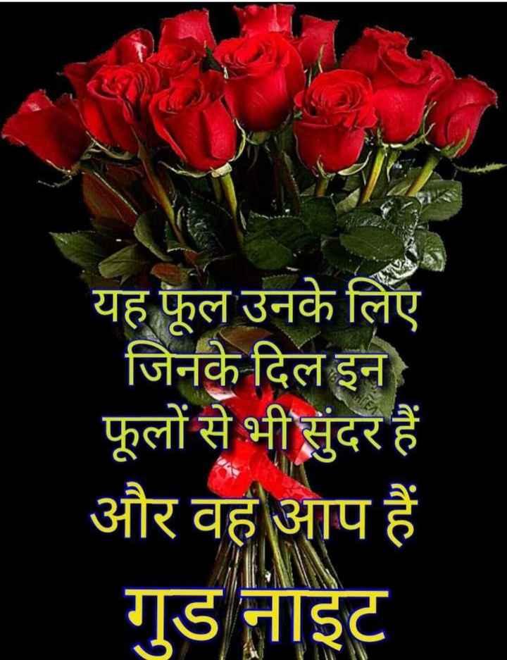 🌙 गुड नाईट - यह फूल उनके लिए जिनके दिल इन फूलों से भी सुंदर हैं और वह आप हैं गुड नाइट - ShareChat