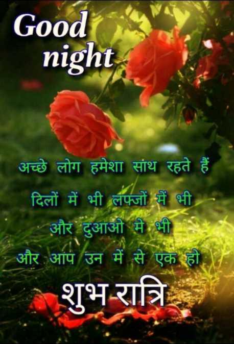 🌙 गुड नाईट - Good night ' अच्छे लोग हमेशा साथ रहते हैं । दिलों में भी लफ्जों में भी । और दुआओं में भी - और आप उन में से एक हो । शुभ रात्रि - ShareChat