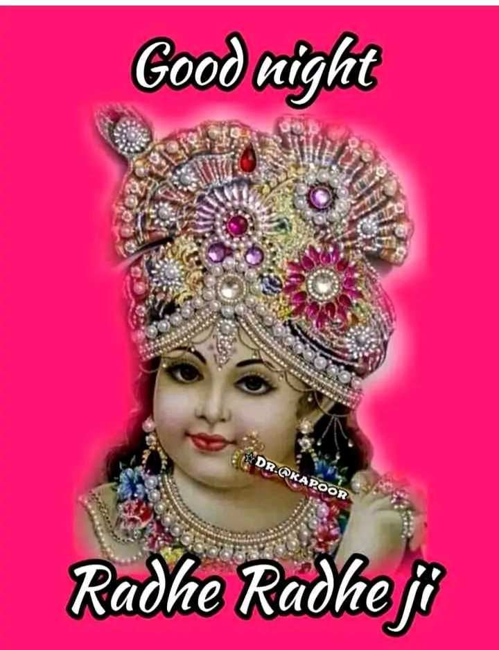 🌙 गुड नाईट - Good night DR . KAPOOR Radhe i - ShareChat