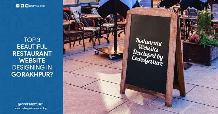 🌇 गोरखपुर सिटी - fu codesGesture ТОР З BEAUTIFUL RESTAURANT WEBSITE DESIGNING IN GORAKHPUR ? Restaurant Websites Developed by CodesGesture CODESGESTURE www . codesgesture . com / blog - ShareChat
