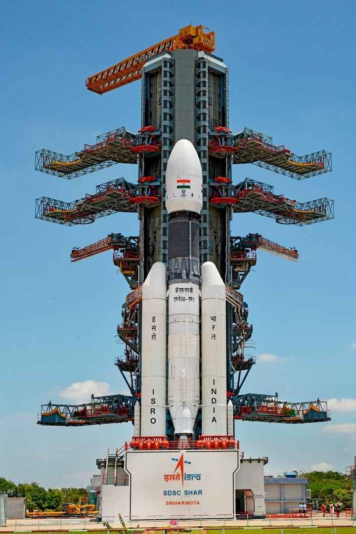 🌜 चाँद पे भारत 🇮🇳 - In MORE le UP 122 जी एस एलवी FF III - 1 ho FF 14 $ - Oro - ZA - < şeisro SDSC SHAR SRIHARIKOTA - ShareChat