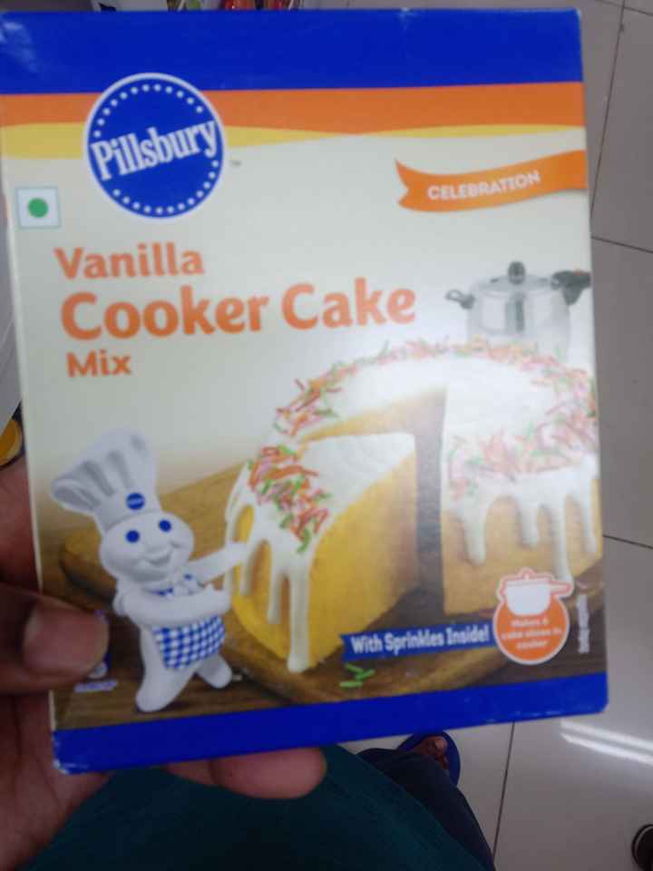 🍝 चाट कॉर्नर 🍝 - Pillsbury CELEBRATION Vanilla Cooker Cake - Mix With Sprinkles Inside ! - ShareChat