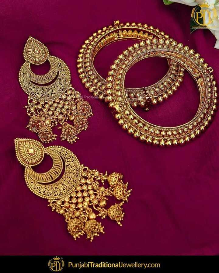 💎चूड़ियाँ-ईयररिंग्स - Traditional Punjabi TraditionalJewellery . com - ShareChat