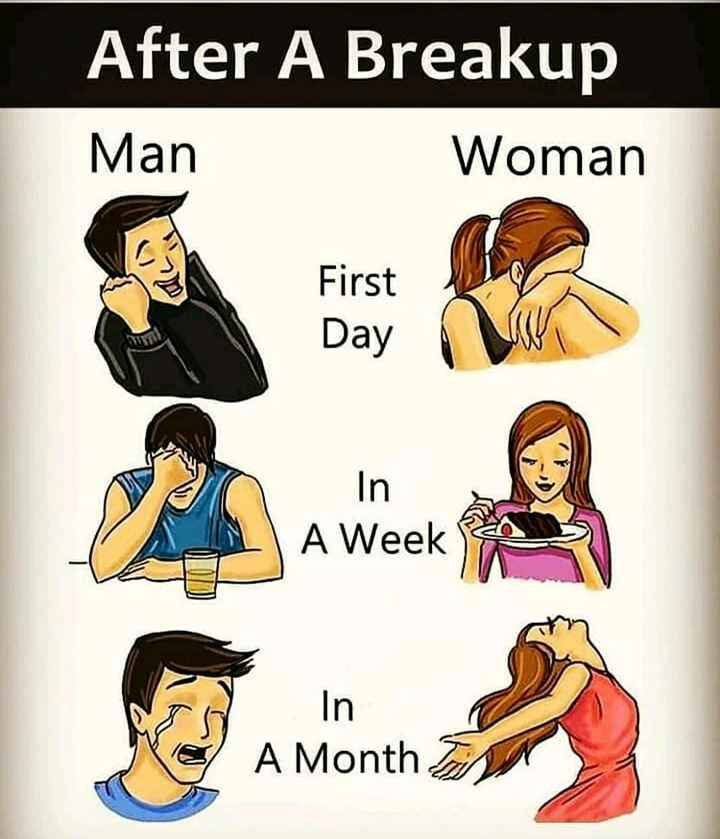 💔जख्मी दिल - After A Breakup Man Woman First Day In A Week A Month - ShareChat