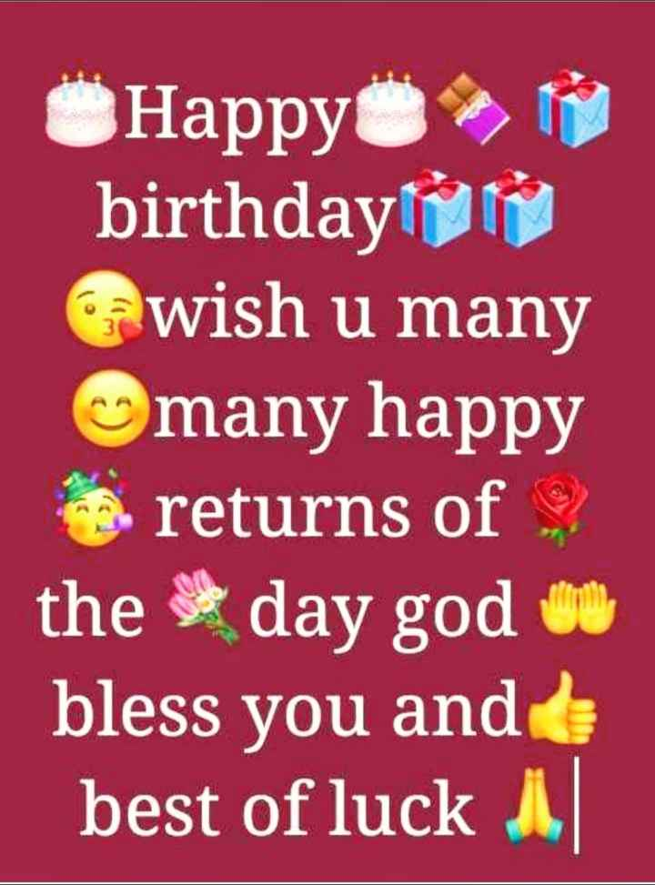 🎂जन्मदिन मुबारक़ वहीदा रहमान💃 - ÜHappy N birthday wish u many many happy returns of the day god u bless you and best of luck 1 - ShareChat