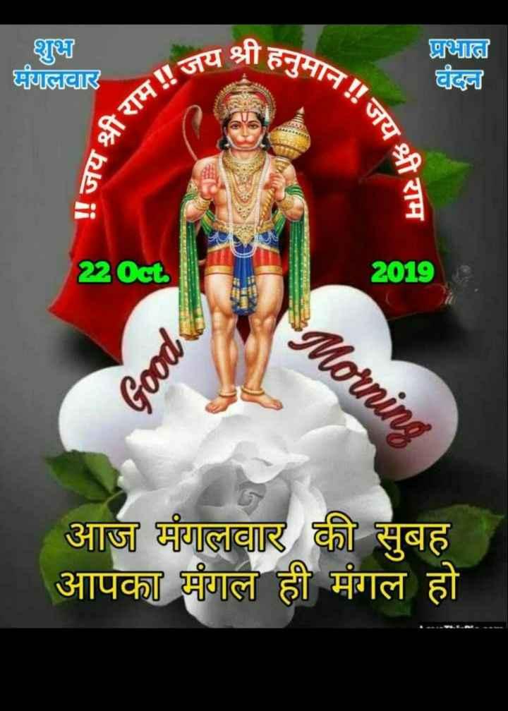🙏 जय वीर हनुमान 🙏 - शुभ मंगलवार यश्री हनुमान प्रभात वंदन राम ! ! जय जय श्री राम 220ct 2019 Morning Good आज मंगलवार की सुबह आपका मंगल ही मंगल हो - ShareChat