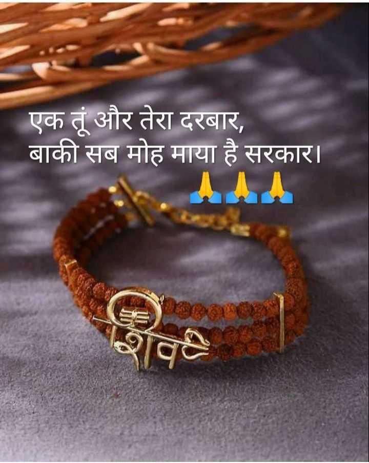 🙏जय शिव शम्भू - एक तूं और तेरा दरबार , बाकी सब मोह माया है सरकार । - ShareChat