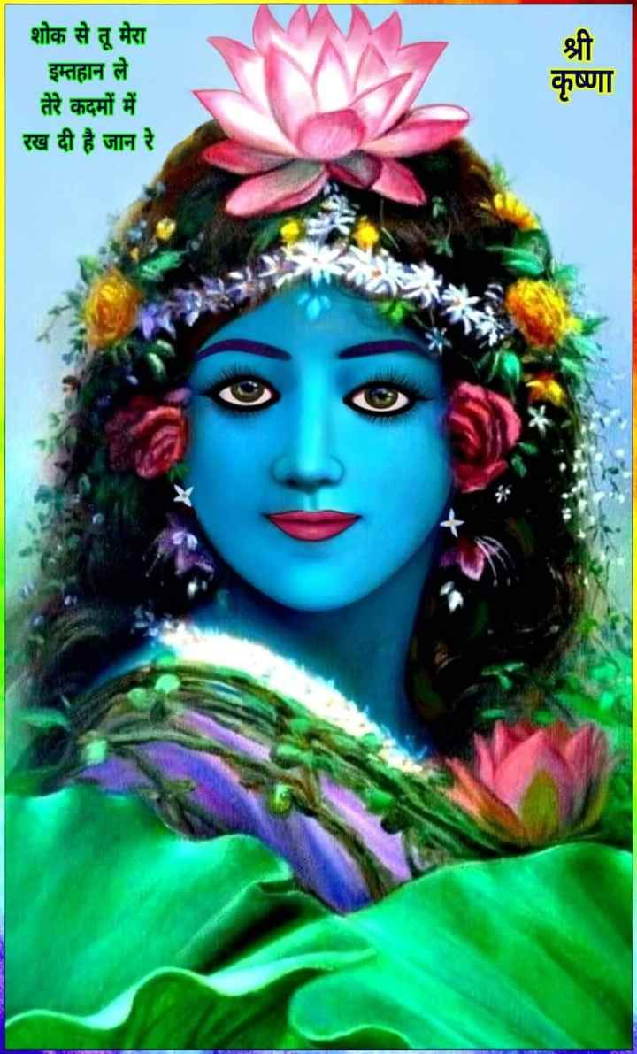 🌸 जय श्री कृष्ण - शोक से तू मेरा इम्तहान ले तेरे कदमों में रख दी है जान रे श्री कृष्णा - ShareChat