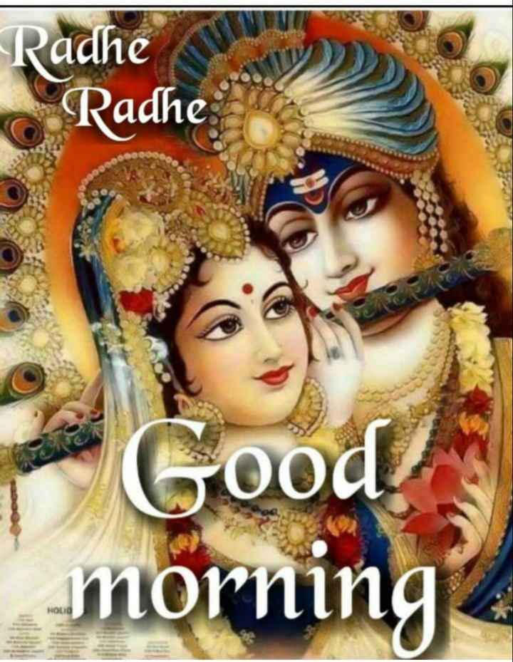 🌸 जय श्री कृष्ण - Radhe Radhe Good ! morning HOLIG - ShareChat
