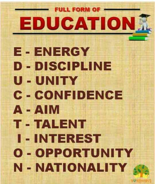 📃 जरुरी सूचना - FULL FORM OF EDUCATION E - ENERGY D - DISCIPLINE U - UNITY C - CONFIDENCE A - AIM T - TALENT 1 - INTEREST 0 - OPPORTUNITY N - NATIONALITY - ShareChat