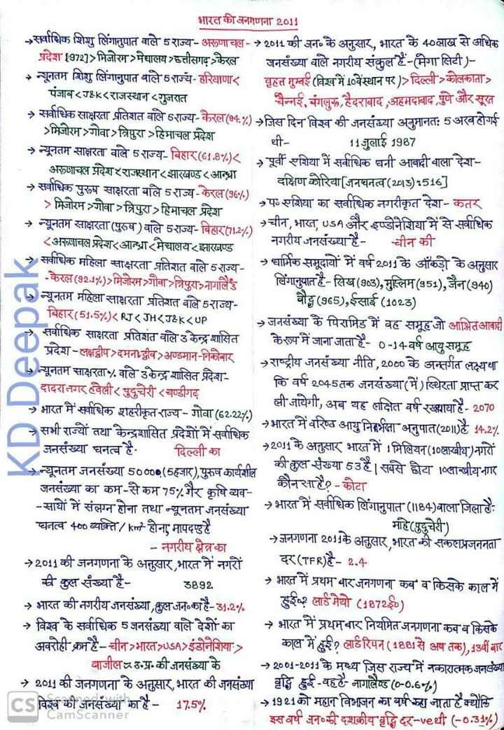 📝जॉब/एग्जाम प्रिपरेशन - भारत की जनगणना 2011 - सर्वाधिक शिशु लिंगानुपात वाले राज्य - अरुणाचल - 2011 की जन के अनुसार , भारत के 40लाख से अधिक प्रदेश 19727 > मिजोरम मेघालय हत्तीसगढ़ केरल जनसंख्या वाले नगरीय संकुल है - ( मेगा सिटी ) न्यूनतम शिशु लिंगानुपात वाले राज्य - हरियाणार वृहत्त मुम्बई ( विश्व में 10वेंस्थान पर ) > दिल्ली - कोलकाता पंजाब < IK < राजस्थान गुजरात चैन्नई . बंगलरू , हैदराबाद , अहमदाबाद , पुण आरसूत → सर्वाधिक साक्षरता प्रतिशत वाले राज्य केरल ( 4 . 70 जिस दिन विश्व की जनसंख्या अनुमानत : 5 अरबहोगई > मिजोरम - गोवा ) त्रिपुरा हिमाचल प्रदेश धी - 11 जुलाई 1987 → न्यूनतम साक्षरता वाले 5 राज्य - बिहार ( 61 . 8 - 1 . ) < पूर्वी एशिया में सर्वाधिक घनी आबादी वाला देश - अरुणाचल प्रदेश राजस्थान ( झारखण्ड ( आन्ध्रा दक्षिण कोरिया [ जनघनत्व ( 2015 ) : 516 ] → सर्वाधिक पुरुष साक्षरता वाले राज्य - केरल ( 36 - ) या का सर्वाधिक नगरीकृत देश - कतर > मिजोरम गोवा त्रिपुरा हिमाचल प्रदेश → न्यूनतम साक्षरता ( पुरुष ) वाले राज्य - बिहार ( 11 . 2 - / - ) चीन , भारत , USA और इण्डोनेशिया में से सर्वाधिक < अरूषाचल प्रदेश आन्ध्रा मेघालय झारखण्ड _ _ नगरीय जनसंख्या है - नगाव चीन की → सर्वाधिक महिला साक्षरता प्रतिशत वाले राज्य → धार्मिक समूदायों में वर्ष 2011 के आंकड़ों के अनुसार - केरल ( 92 . 17 . ) > मिजोरमञ्गौवा त्रिपुरा नागालैड लिंगानुपात है - सिख ( 903 ) , मुस्लिम ( 451 ) , जैन ( 940 ) > न्यूनतम महिला साक्षरता प्रतिशत वाले राज्य - बौद्ध ( 965 ) , ईसाई ( 1023 ) बिहार ( 51 . 57 ) < KI < JHKTAK < UP जनसंख्या के पिरामिड में वह समूहजो आभितआवादी सर्वाधिक साक्षरता प्रतिशत वाले उ केन्द्र शासित के रूप में जाना जाता है - 0 - 14 - वर्ष आयु समूह प्रदेश - लक्षद्वीप दमनावीव अण्डमान - निकोबार राष्ट्रीय जनसंख्या नीति , 2000 के अन्तर्गत लक्ष्यथा न्यूनतम साक्षरता वाले उकेन्द्र शासित प्रदेश - कि वर्ष 2045 तक जनसंख्या ( में ) स्थिरता प्राप्त कर दादरा नगर हवेली र पुदुचेरी ( चण्डीगढ़ → भारत में सर्वाधिक शहरीकृत राज्य - गोवा ( 62 . 22 - 1 - ) . ली जायेगी , अब यह लक्षित वर्ष रखाया है - 2070 → सभी राज्यों तथा केन्द्रशासित प्रदेशों में सर्वाधिक 17 →भारत में वरिष्ठ आयु निर्भरता अनुपात ( 2010है 14 . 27 . जनसंख्य