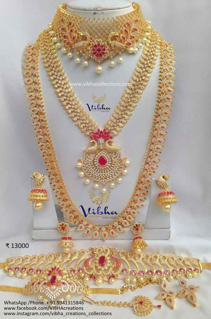 📿 ज्वेलरी डिजाइन - w . vibhacollections . com Vibha ibha LALONS CONSEN 13000 La b elalan WhatsApp / Phone + 91 9941315846 www . facebook . com / VIBHAcreations www . instagram . com / vibha creations collections - ShareChat
