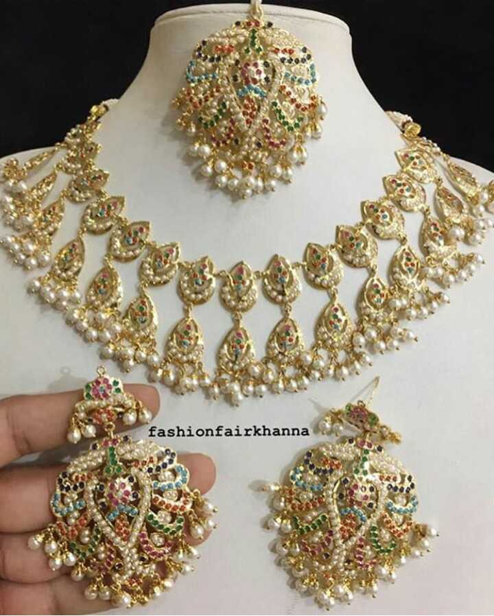 📿ज्वेलरी डिजाइन - fashionfairkhanna - ShareChat